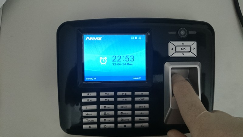 Time and Attendance System, Fingerprint, Card and PIN, OA1000 Mercury Pro Rfid/FP Multispectral