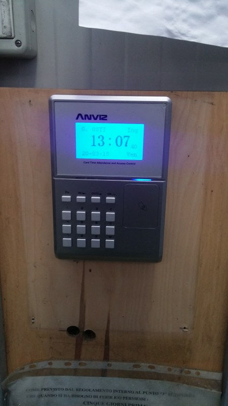 Time and Attendance System, Card and PIN, OC500 Rfid